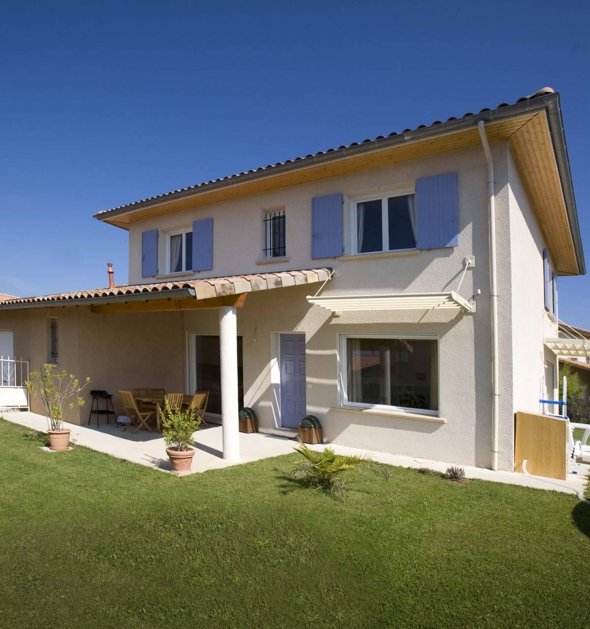 Première maison bioclimatique et environnementale en France