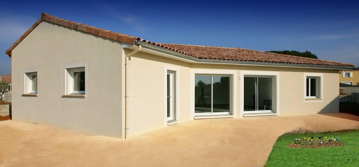 A Montéléger, construction d'une Maison de plain-pied, proche de Valence